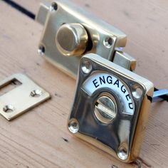 Brass Vacant v. Engaged Lock