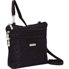 baggallini Zipper Bagg Crinkle Nylon Cheetah B - baggallini Fabric Handbags