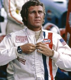"The original Tag Heuer ""Monaco"" racing watch worn by Steve McQueen in the 1971 film Le Mans"