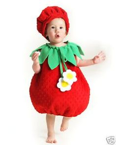 Strawberry Costume Shortcake Berrykin Infant Toddler   eBay