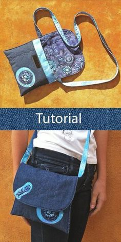 Tutorial bolso tejano: cómo hacer un bolso con vaqueros reciclados y tela de batik. Jean bag tutorial: how to make a handbag with recycled jeans and batik fabric. Large Toiletry Bag, Tote Bag With Pockets, Diy Tote Bag, Recycle Jeans, Recycled Denim, Bag Patterns To Sew, Patchwork Bags, Denim Bag, Everyday Bag