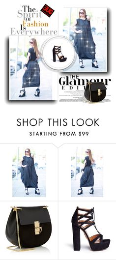 """Cotton Oversize Dress by EUGfashion 2020"" by eug-fashion ❤ liked on Polyvore featuring Chloé, Aquazzura and EUGfashion"