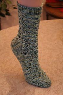 Rivulets Socks by Wendy D. Johnson - free pattern