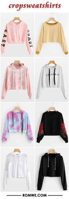 black friday sale - crop sweatshirts 2017 - romwe.com