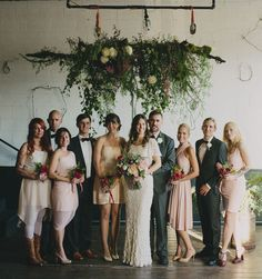 Love this amazing organic chandelier for this Portland wedding's ceremony space! Wedding Bells, Wedding Ceremony, Wedding Flowers, Ceremony Backdrop, Wedding Arches, Wedding Backdrops, Ceremony Decorations, Flower Installation, Floral Chandelier