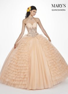 5c8df6b49e Marys Bridal Marys Quinceanera Dresses dress with Style - Fabric - Tulle  and Color - Burgundy or Dark Champagne