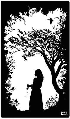 The Guardian Great Fairytales - Tale of the Juniper Tree - Laura Barrett - London Based Freelance Silhouette & Pattern Illustrator - Illustration Portfolio