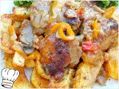 ΘΕΙΚΟ ΜΟΣΧΑΡΙ ΣΕ ΠΗΛΙΝΗ ΓΑΣΤΡΑ!!! Cookbook Recipes, Cooking Recipes, Greek Recipes, Allrecipes, Food And Drink, Beef, Chicken, Dining, Greek Beauty