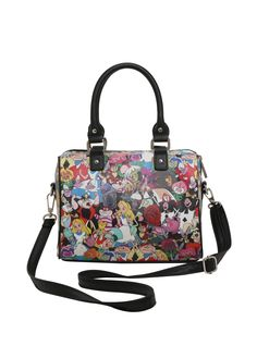e1c4e1b01b40 Loungefly Disney Alice In Wonderland Tossed Character Barrel Bag