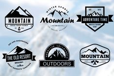 Ad: Mountain Vintage Badges by LovePowerDesigns on 6 Badges & Stickers: A set of 6 Retro Vintage Badges & Stickers which can be used as your logos, labels, badges, watermark and other Badge Design, Logo Design, Web Design, Design Ideas, Graphic Design, Afrika Corps, Branding Materials, Travel Party, Badge Logo