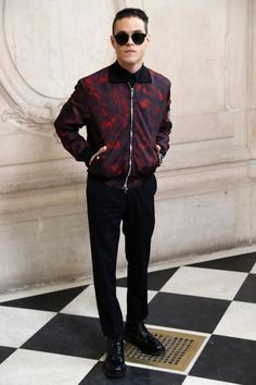 Rami Malek attends the Christian Dior Haute Couture Spring Summer 2017 show as part of Paris Fashion Week at Musee Rodin on January 23, 2017 in Paris, France.