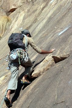 Climber on a difficult route at Makalidurga on the outskirts of Bangalore, Karnataka, India. Photographed by Siddharth Devaraj at Sid-Art.co Photography. Face Book : Sid-Art.co Instagram : sid-art.co