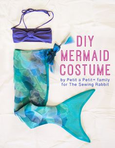 How to make a DIY Mermaid Costume for kids or adults! A sewing video that will have you swishing your tail in no time! Perfect for Halloween, dress up, and more! Girls Mermaid Tail, Mermaid Diy, Mermaid Tails, Ariel Mermaid, Ariel Costumes, Diy Costumes, Halloween Costumes, Woman Costumes, Couple Costumes