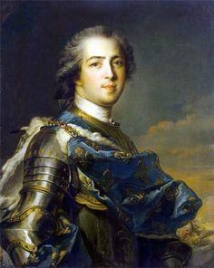 Louis XV de France.   Louis XV, dit le « Bien-Aimé », né le 15 février 1710 à Versailles et mort le 10 mai 1774 à Versailles, duc d'Anjou jusqu'au 8 mars 1712, dauphin de France du 8 mars 1712 au 1er septembre 1715, est un roi de France et de Navarre, membre de la Maison de Bourbon, dont le règne dure de 1715 à 1774.