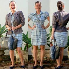 blog v@ LOOKS | por leila diniz: 2º look da semana usando vestido com MANGUINHA (se...
