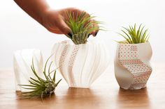 Do you have #green thumb? These #3Dprinted #planters are a great way of holding plants >