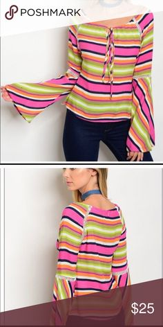 MADISON BELL SLEEVE TOP Medium. This is a reposh. It didn't fit me. I absolutely love it and hate to part but my loss is your gain. Chic! Tops Blouses
