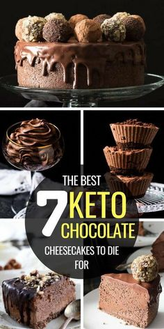 Craving some keto chocolate dessert? Try these keto chocolate cheesecake recipes: they're easy, delicious, chocolatey, and provide you with a ton of different options! From cupcakes to mousse to fudge and cups, these keto chocolate recipes are the healthy desserts your taste buds need. #keto #ketodiet #ketorecipes #ketogenic #ketogenicdiet #chocolatecheesecake