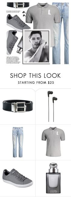 """Gray Outfit"" by zaful-men ❤ liked on Polyvore featuring Burberry, B&O Play, Skechers, Gucci, men's fashion, menswear and gray"