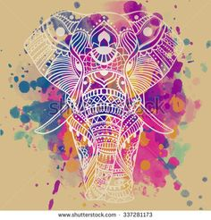 Acuarela Animal Fotos, imágenes y retratos en stock | Shutterstock Elephant Art, Zentangle Elephant, Baby Elephant, Elephant Colour, Mandala Elephant, Image Elephant, Elephant Tattoos, Elephant Images, Elephant Design