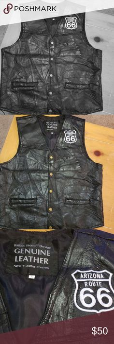 aecb2c5a608 I just added this listing on Poshmark  Navarre Leather Company L Italian  Vest.