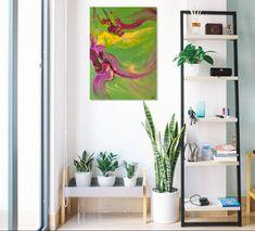 """#peinture #painting #art #decoration #interiordesign """"Jardin suspendu"""" /'Hanging Garden' (c) Eliora Bousquet [Photo du décor (c) Pixabay] Bousquet, Decoration, Plants, Painting, Art, Happy Tears, Hanging Gardens, Decor, Art Background"""