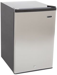 Whynter Energy Star Upright Freezer, Cubic Feet Sleek stainless steel reversible-swing door and black cabinet with cylinder lock and two keys Compressor cooling Keyed door lock Two removable shelves Freestanding setup (clearance around the unit is needed) Upright Freezer, Chest Freezer, Star Wars, Stainless Steel Doors, Cubic Foot, Black Cabinets, Wire Shelving, Single Doors, Energy Star