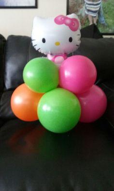 Hello kitty balloon  centerpiece  front