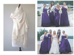 Ivory Wedding Shawl Brides Shrug bridal scarf by BridalLife