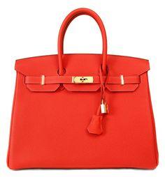 Hermès Rouge Pivoine Togo Leather 35 cm Birkin Gold Hardware Hermes Birkin 5ab3b080265ee