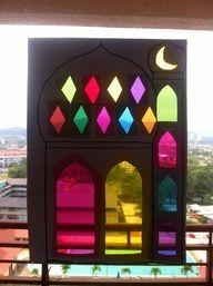 Suncatcher et window colors pour Ramadan - New Deko Sites Eid Crafts, Ramadan Crafts, Ramadan Decorations, Holiday Crafts, India Crafts, Decoraciones Ramadan, Ramadan Activities, Afrique Art, Eid Party