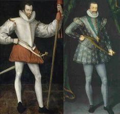 Henri de Guise assassiné en 1588 (portrait posthume ?) et Henri IV vers 1600