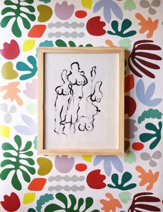 Inspired by Matisse - The Horse, the Rider and the Clown. 'Matisse is my muse' wallpaper now in the Kare Zaremba shop.