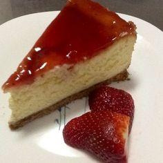 Tarta de queso estilo americana. Ver la receta http://www.mis-recetas.org/recetas/show/39184-tarta-de-queso-estilo-americana