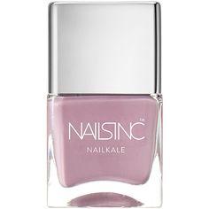 Nails inc Nailkale Nail Polish, Windsor Mews 0.47 oz (14 ml) (19 CAD) ❤ liked on Polyvore featuring beauty products, nail care, nail polish, nails inc., nails inc nail polish and nail colour