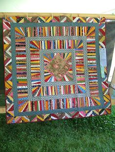 This would be a nice way to use up a lot of scrap strips!  Gwen Marston