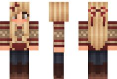Summer Minecraft Skin I think I will have this skin, it looks just like me. But I will have green eyes.❤