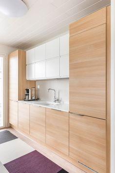 Kitchen Ideas, Kitchen Design, L Shaped Kitchen, Studio Apartment Decorating, House Decorations, Minimalist Kitchen, Scandinavian Style, Cribs, New Homes