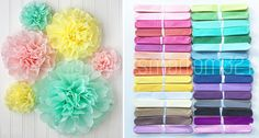 Tissue Pom Poms Paper Flower Home Wedding Birthday Tea Party Table Decoration in Home, Furniture & DIY, Celebrations & Occasions, Party Supplies | eBay!