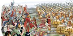 "-0280 ""Battle of Heraclea"", Pirro de Épiro  derrota ante lo romanos,  Angelo Todaro"