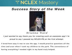 Brianna Ward is our #NCLEX Mastery Success Story of the Week. Congratulations on passing your NCLEX, and becoming a #nurse. We're glad we could help play a part in you achieving your dreams. If you want to know how Cheryl passed or need help on your NCLEX studies visit: www.nclexmastery.com