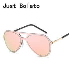 9e066ee2ba6 2017 Classic Aviation Sunglasses Women Pink Mirror Sunglasses Fashion  Vintage Lady Oversize Pilot Sun Glasses For. Mirrored SunglassesRay Ban ...