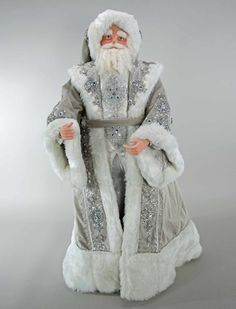 """Katherine's Collection Winter Wonderland Christmas Collection 36"""" Santa Claus Doll Free Ship"""