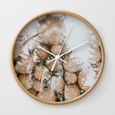 "Available in natural wood, black or white frames, our 10"" diameter unique Wall Clocks feature a high-impact plexiglass crystal face and a backside hook for easy hanging. Choose black or white hands to match your wall clock frame and art design choice. Clock sits 1.75"" deep and requires 1 AA battery (not included). #hudolin, #photograhy, #nature, #wood, #forest, #double-exposure"