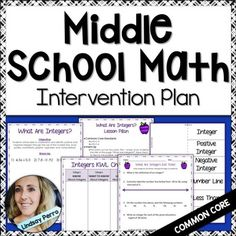 To purchase this plan without the common core standards/alignment, CLICK HERE! This intervention plan takes a common core approach to reviewing essential skills! Included are 13 lessons designed to provide extra practice and reinforcement for Middle School Math skills.