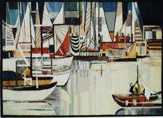 Harbor - Hand Woven Tapestry by Piotr Grabowski