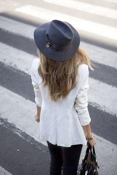Hat and blazer