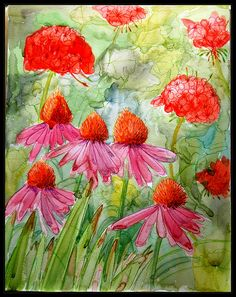 "Watercolour :) by laurainspain :), via Flickr /all rights reserved - ""My latest watercolor, my first using a photo as reference. I'm going to give this to my sister for her birthday, she has been very supportive of me and my art :) 12in x 16 in"""