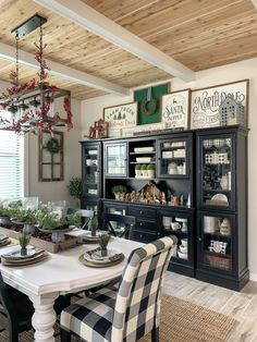 30 Amazing Dining Room Decor Ideas With Farmhouse Style Farmhouse Dining Room Amazing decor Dining Farmhouse Ideas Room style Dining Room Buffet, Dining Room Furniture, Dining Room Fireplace, Dining Table, Country Farmhouse Decor, Farmhouse Style, Modern Farmhouse, Farmhouse Ideas, Vintage Farmhouse