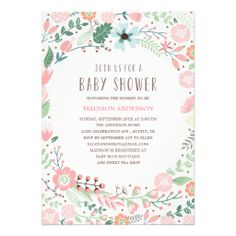 Flower Garden | Baby Shower Invitation